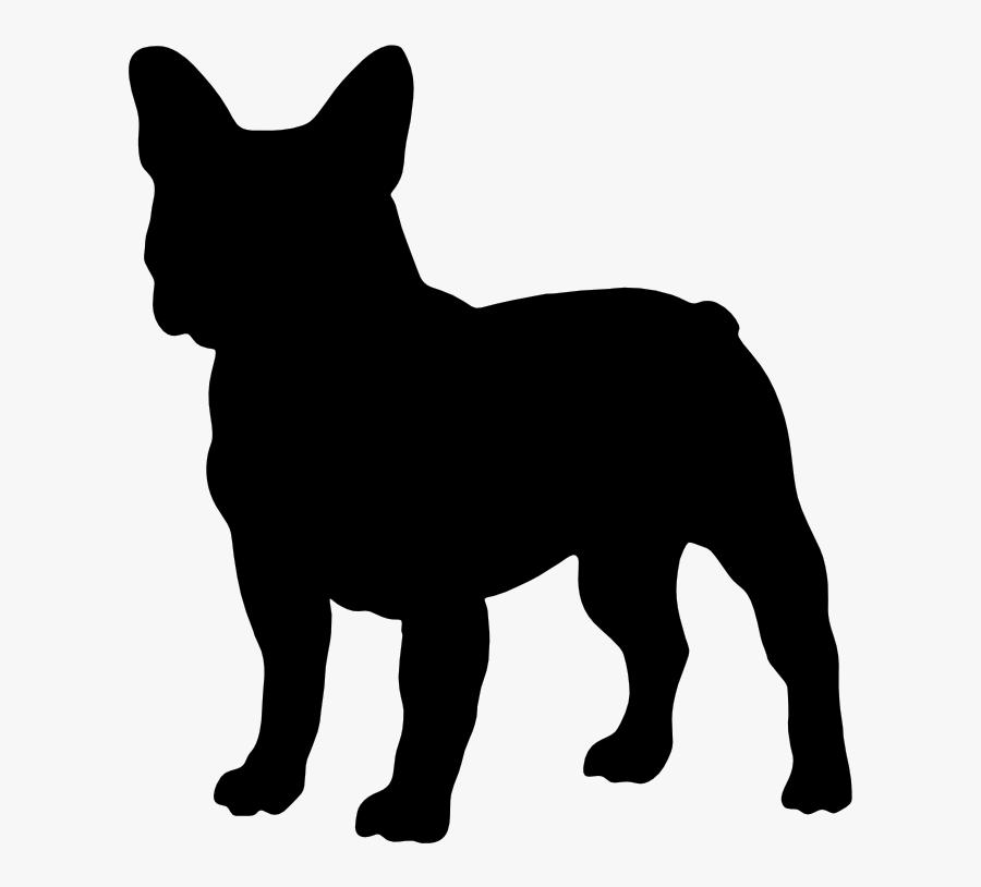 French Bulldog American Bully Boston Terrier Shiba - French Bulldog Silhouette Png, Transparent Clipart