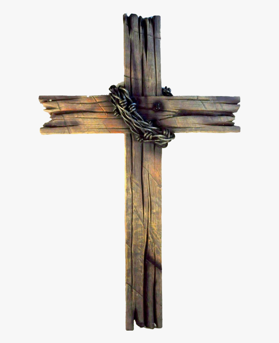 Rugged Cross Christian Wood Old The Drawing Clipart - Wooden Cross, Transparent Clipart