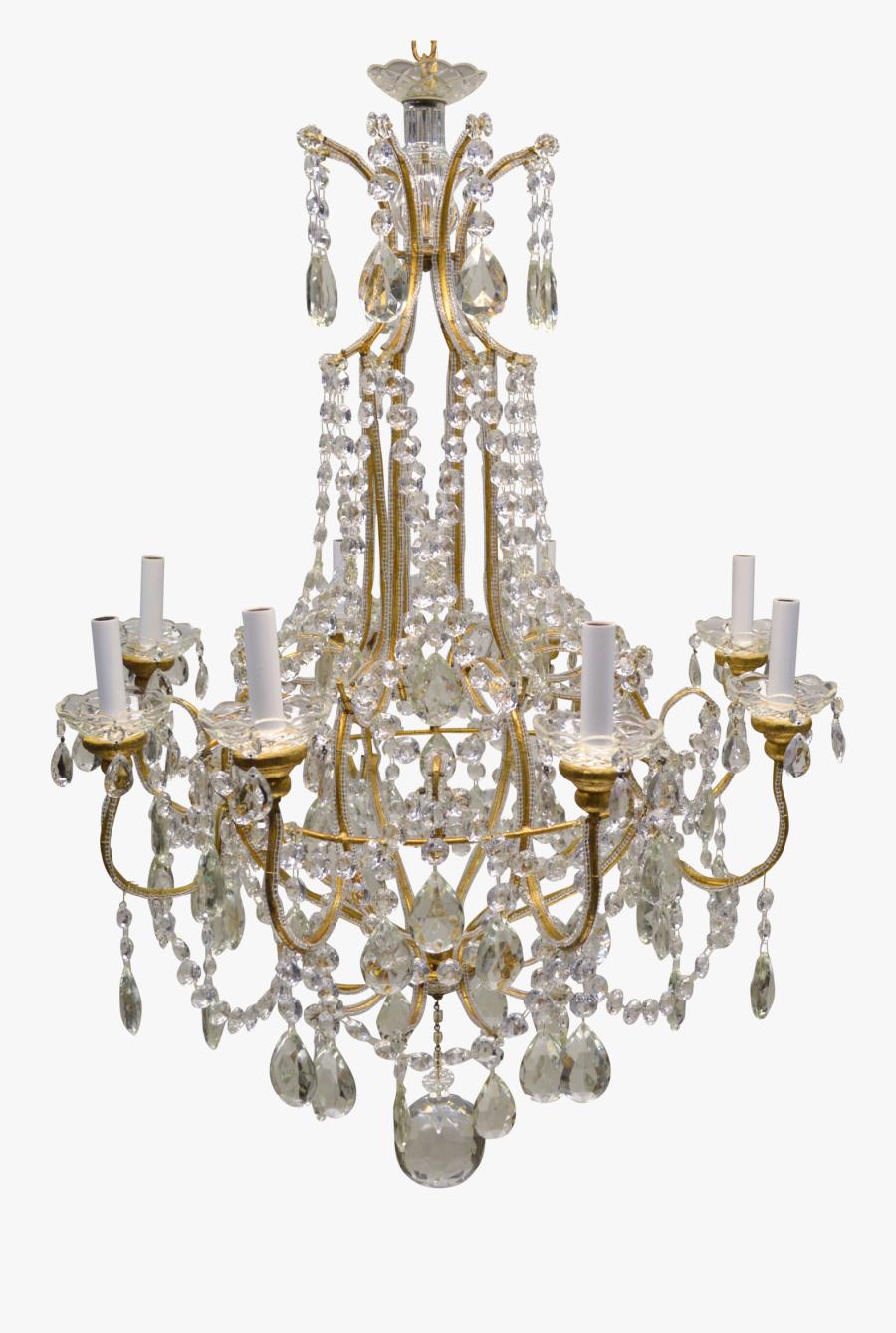 Chandelier Png Image - Vintage German Crystal Light Chandelier, Transparent Clipart
