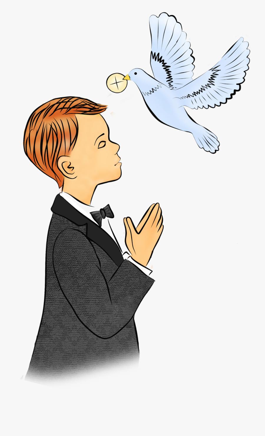 Pierwsza Komunia Wi - Holy Communion Clipart Boy, Transparent Clipart