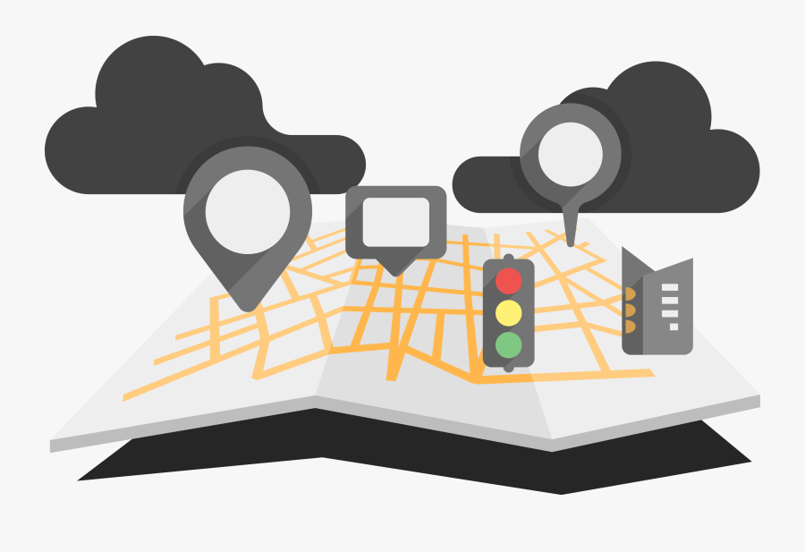 Road Map Infographic World - Traffic Map Png, Transparent Clipart