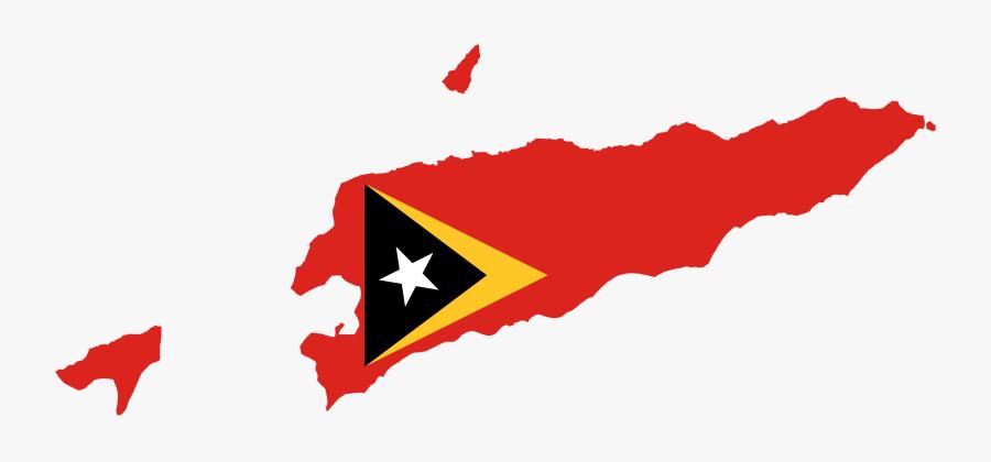 Line,red,timorleste - East Timor Flag Map, Transparent Clipart