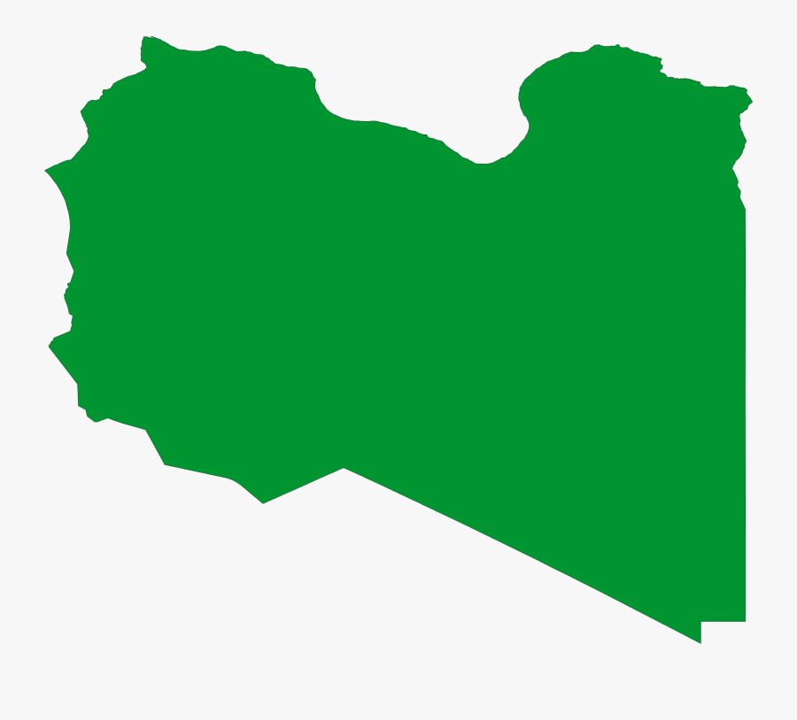 Libya Flag Map, Transparent Clipart