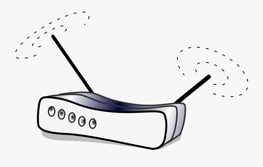 Wlan, Computer, Router, Network, Connection, Switch - Wireless Router Clipart, Transparent Clipart