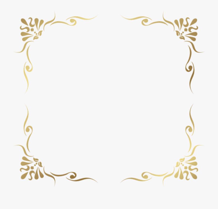 Decorative Pictures Trzcacak Rs - Frame Gold Border Png, Transparent Clipart