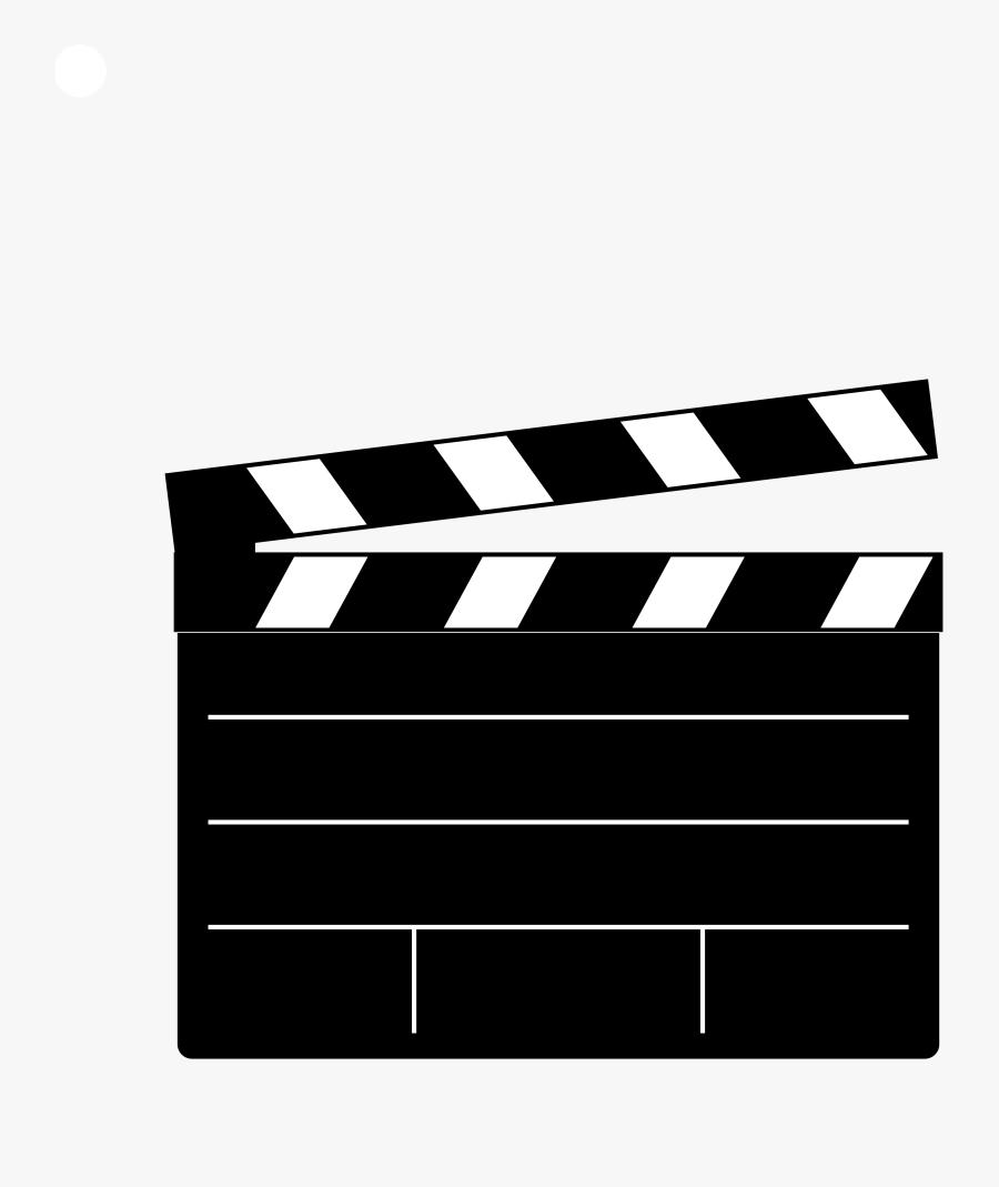 Transparent Cinema Clipart - Clapper Board, Transparent Clipart