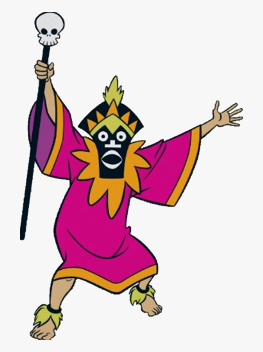 Scooby Doo Clipart Villain - Tiki Witch Doctor Scooby Doo, Transparent Clipart