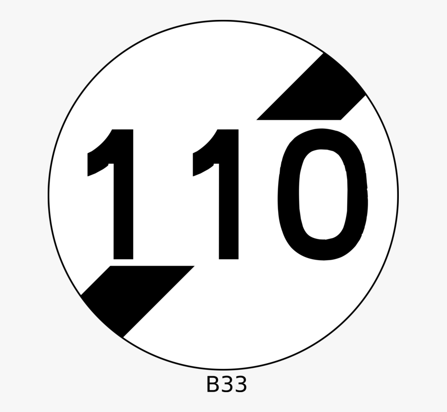 Logo Brand Traffic Sign Speed Limit - French Road Sign White Circle Black Line, Transparent Clipart