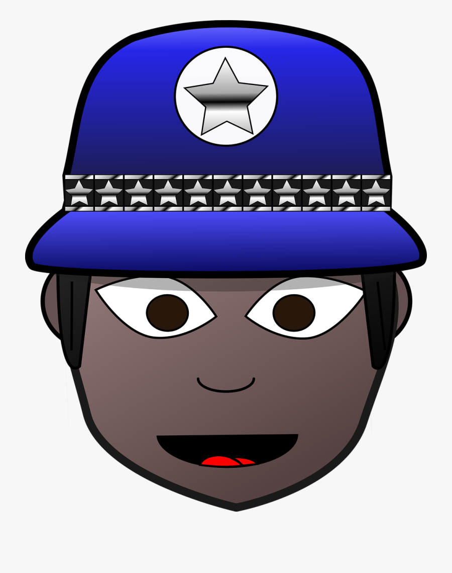 Comic Characters Cop Dress-up Head - Police Woman Face Image Clipart, Transparent Clipart