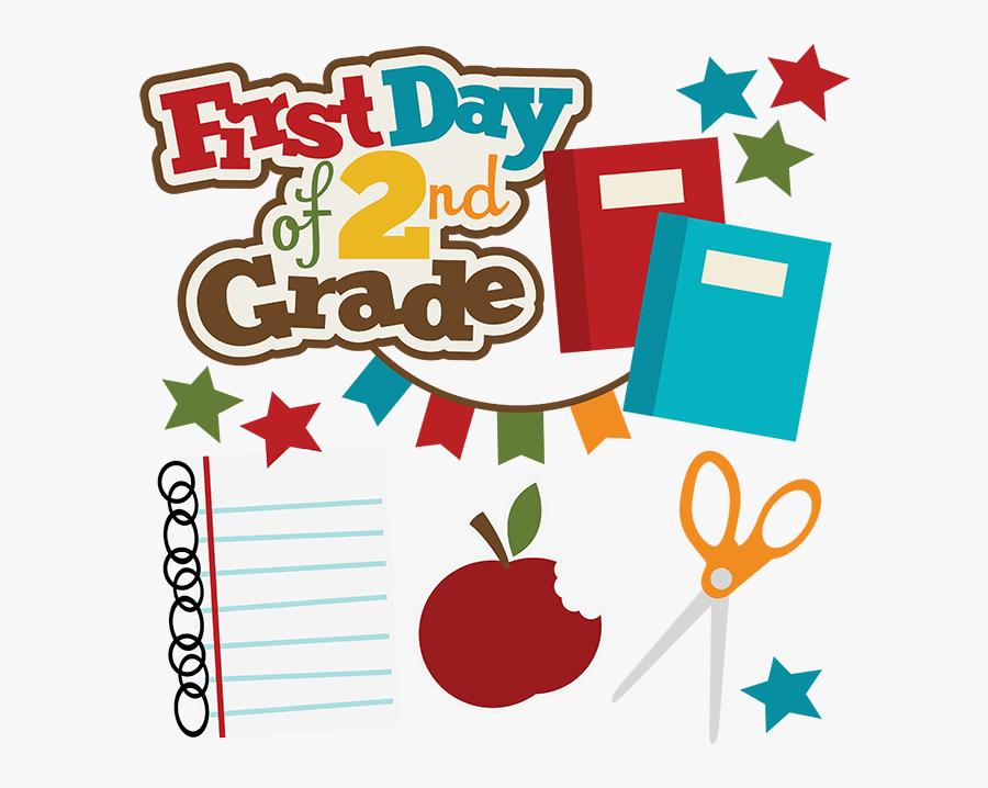 First Day Of 2nd Grade Svg School Svg Collection School - 1st Day Of 1st Grade Clipart, Transparent Clipart
