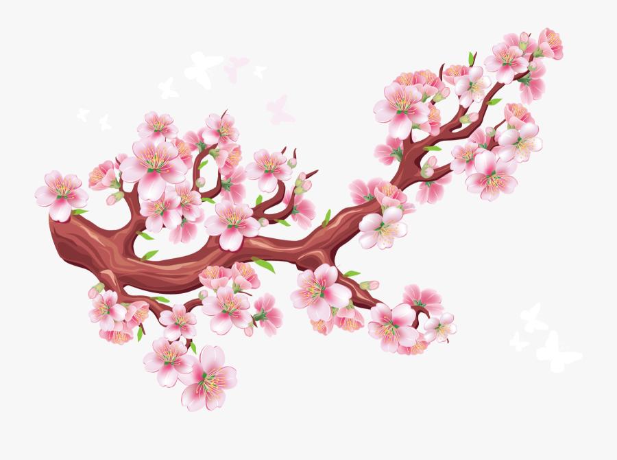 Transparent Cherry Blossom Branch Png - Anime Ninja Dress Up Game, Transparent Clipart