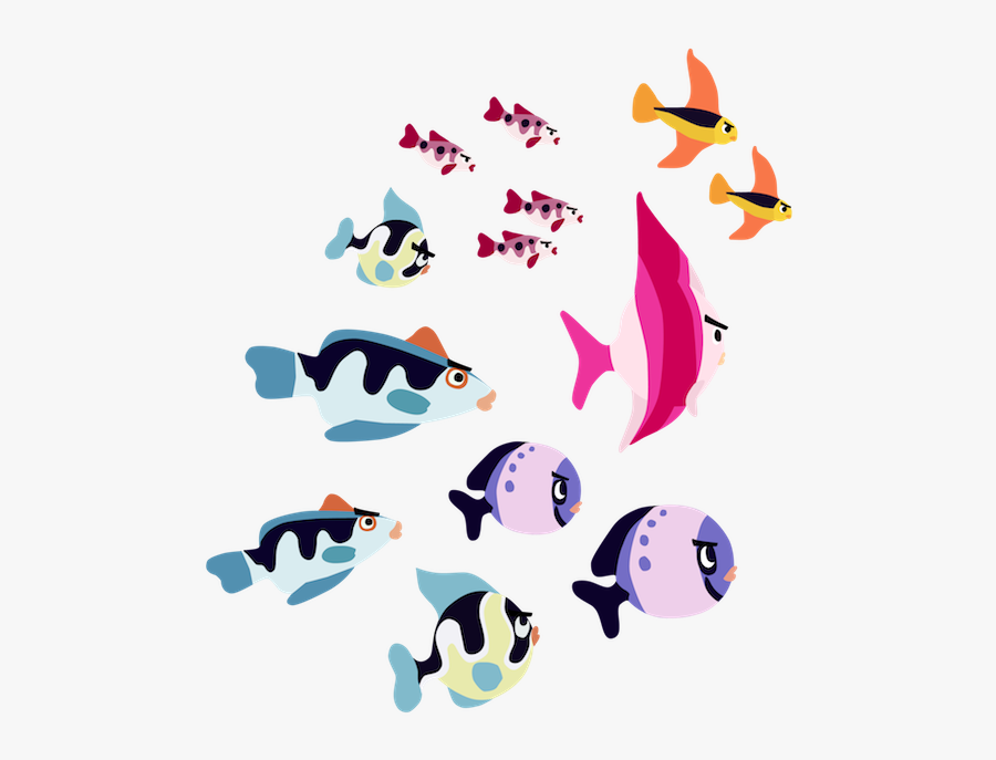 Clip Art Library Library School Of Fish Clipart Black - Animated School Of Fish Png, Transparent Clipart