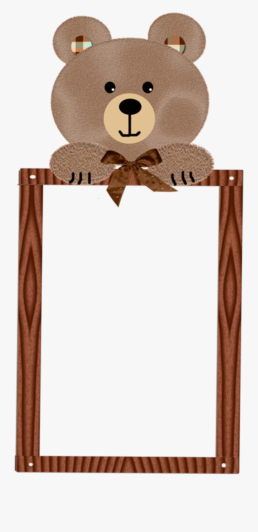 Frame Teddy Bear Border, Transparent Clipart
