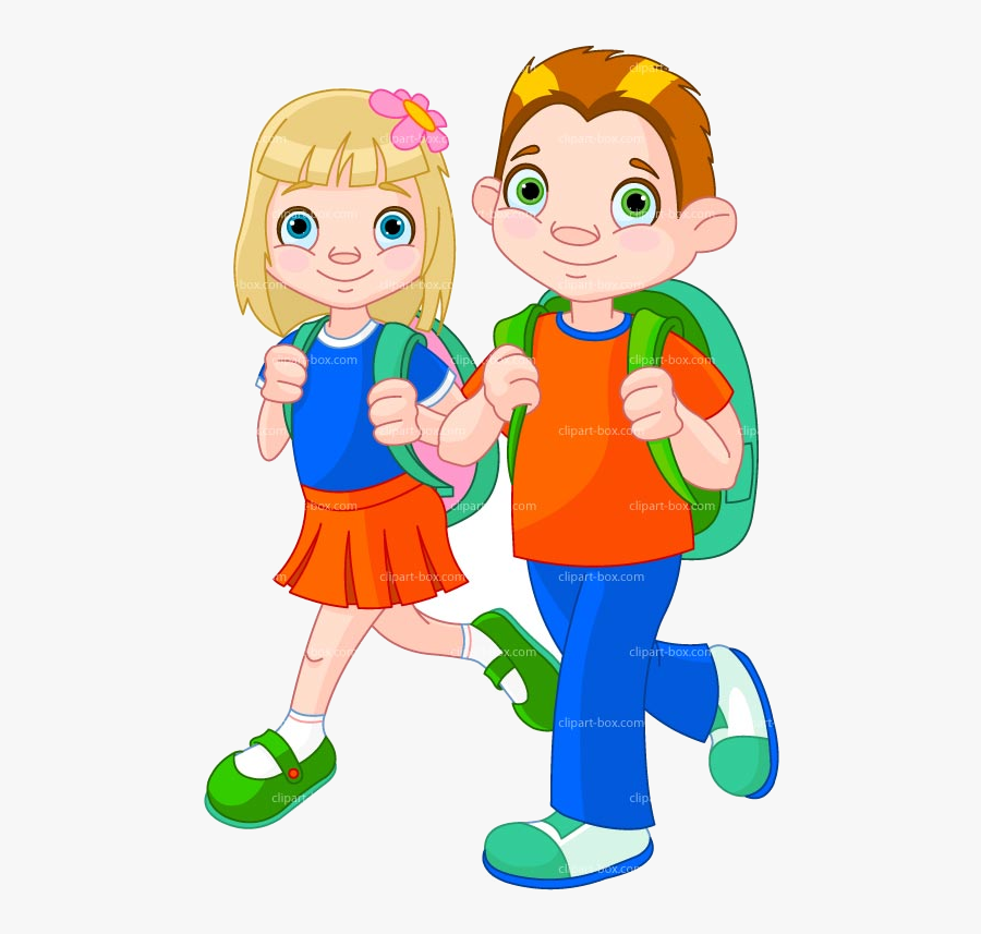 School Kids Going To Clipart Free Best Transparent - Students Walking Clipart, Transparent Clipart