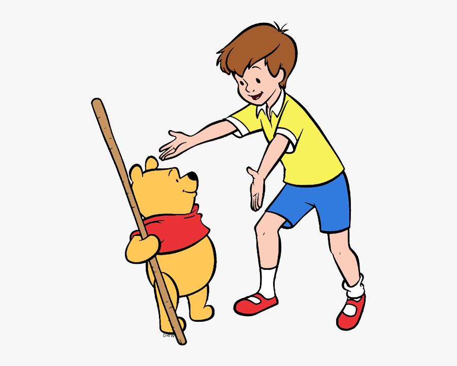 Winnie The Pooh, Christopher Robin Greeting - Disney Cartoon Christopher Robin, Transparent Clipart