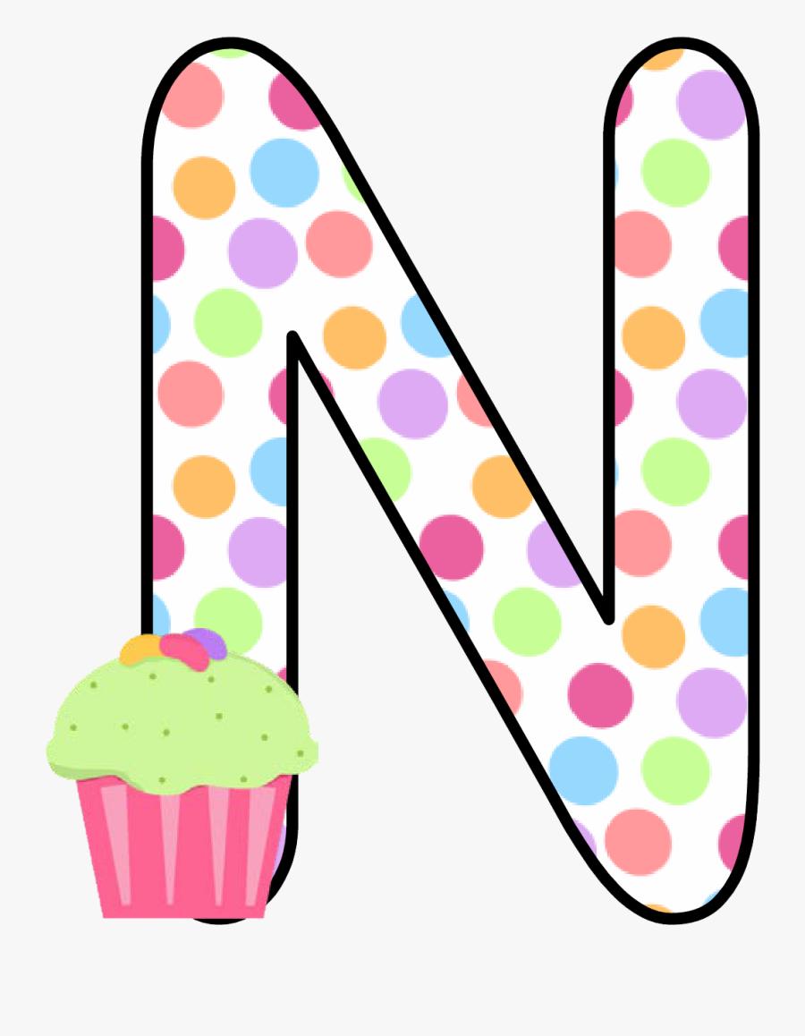 Ch B *✿* Alfabeto Cupcake De Kid Sparkz - Cupcake Alphabet Letters Clipart, Transparent Clipart