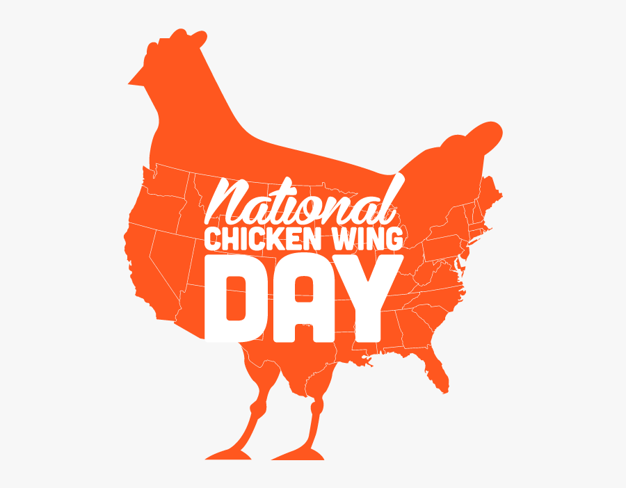 Happy National Wing Day, Transparent Clipart