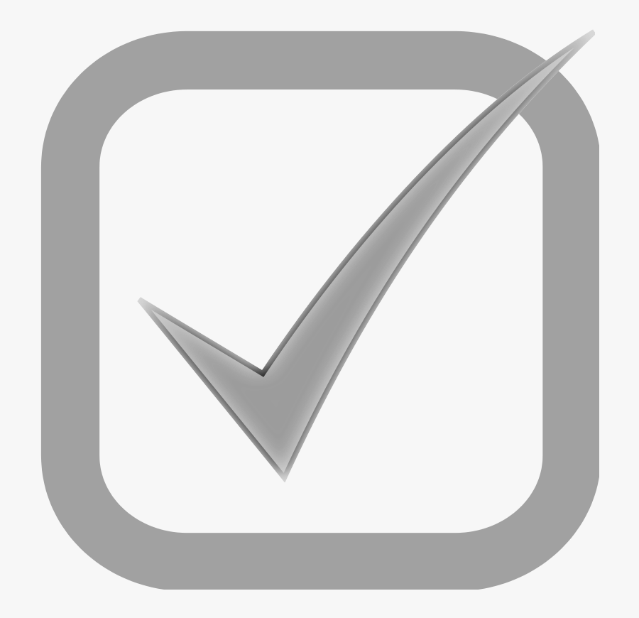 Checkbox Checked Disabled - Grey Tick In Box, Transparent Clipart