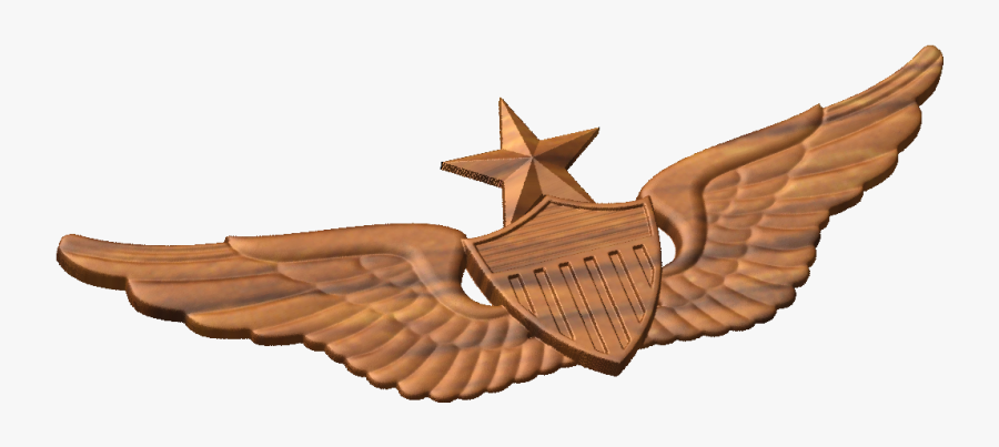 Cnc Military Emblems Us Army Qualification Badge Models - Hat Master Aircrew Army, Transparent Clipart