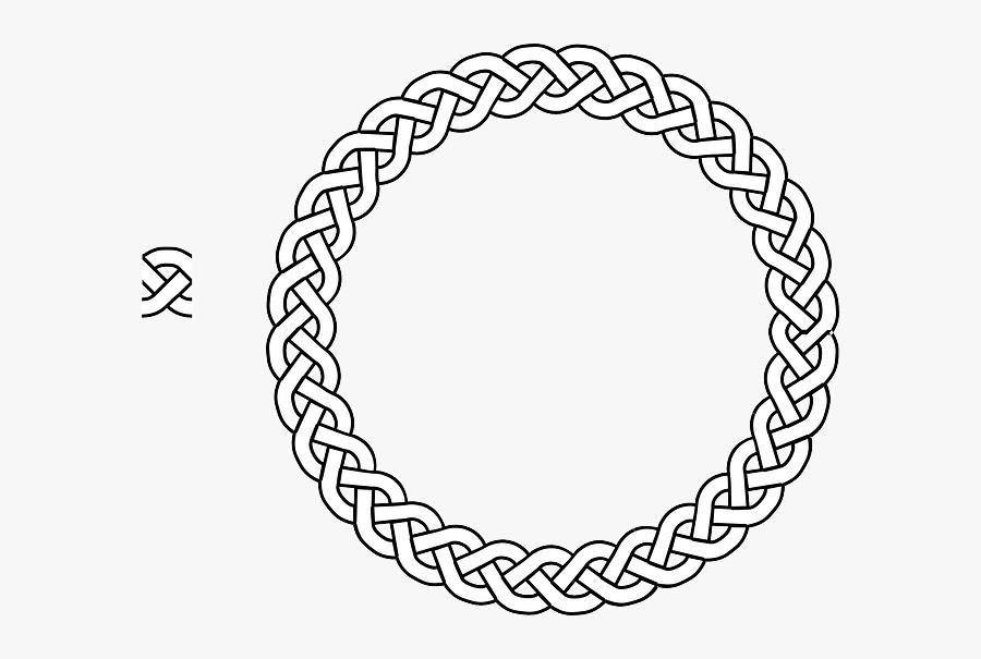 Border, Braid, Frame, Plait, Rope, Circle - Simple Celtic Knot Circle, Transparent Clipart