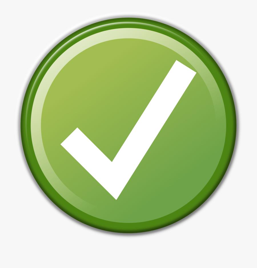 Check Mark Green - Green Check Mark In A Circle, Transparent Clipart