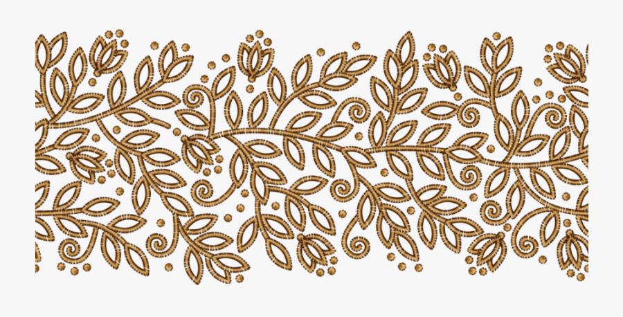 Download Png Ribbon Gold Clipart Gold Floral Design - Gold Floral Pattern Transparent, Transparent Clipart