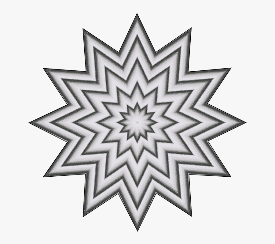 Grey Star Pattern Clipart - Transparent Background Rangoli Png, Transparent Clipart