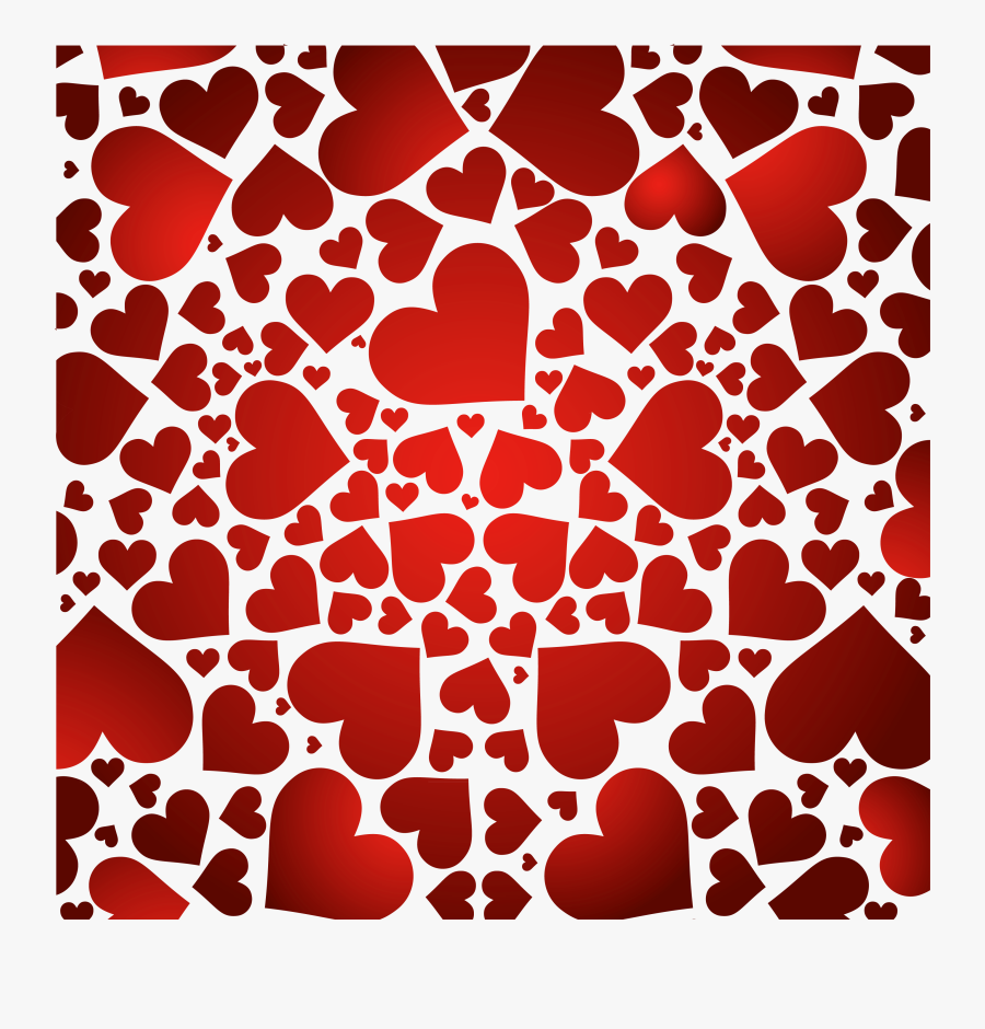 Hearts Decor Png Clipart - Red Background For Valentines Png, Transparent Clipart