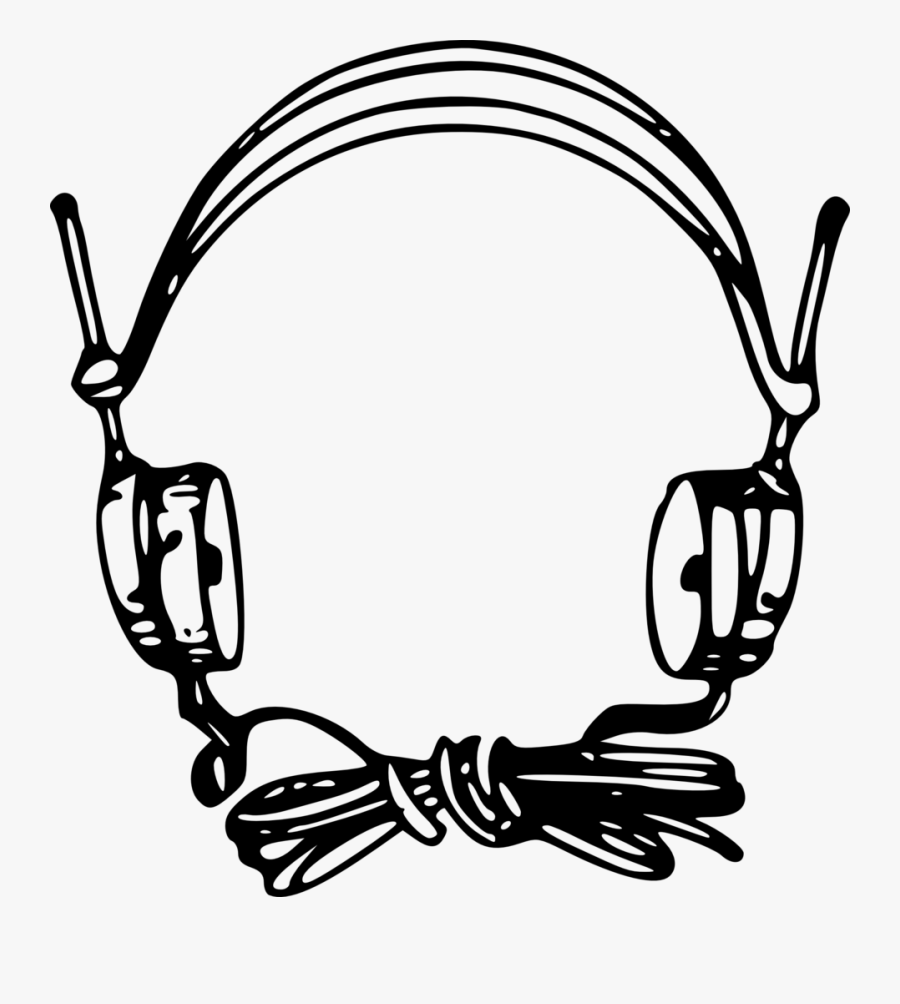 Headphones Microphone Computer Icons Xbox Wireless - Microphone Drawing With Headset, Transparent Clipart