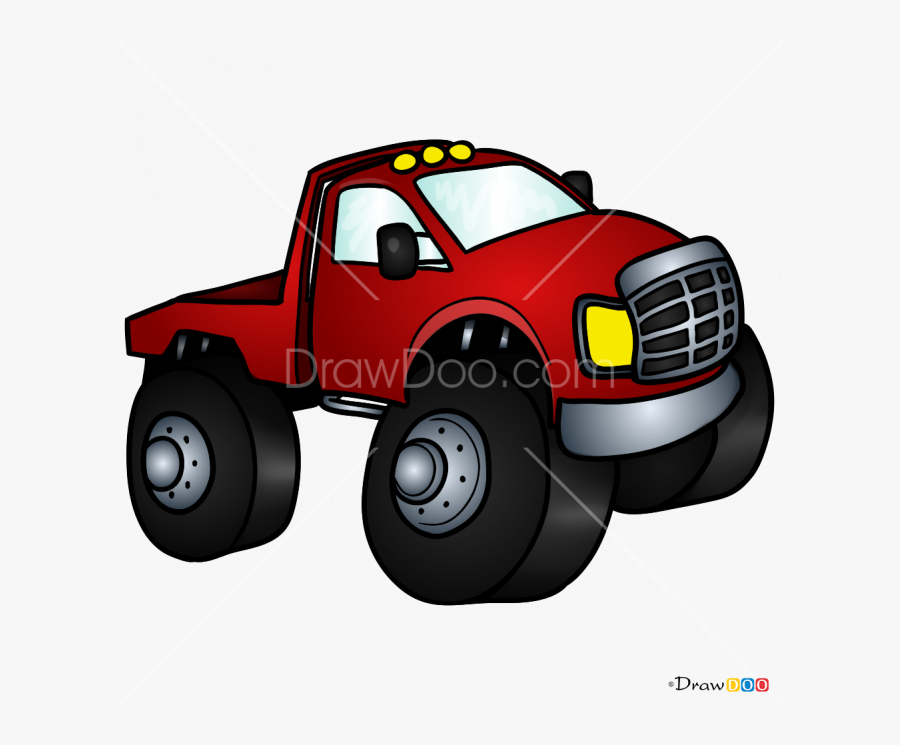 Clip Art How To Draw Chibi - Pickup Truck, Transparent Clipart