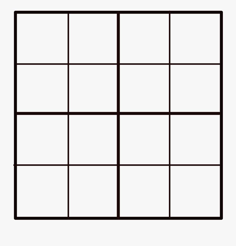 Square Clipart Grid - 4 X 4 Grid Png, Transparent Clipart