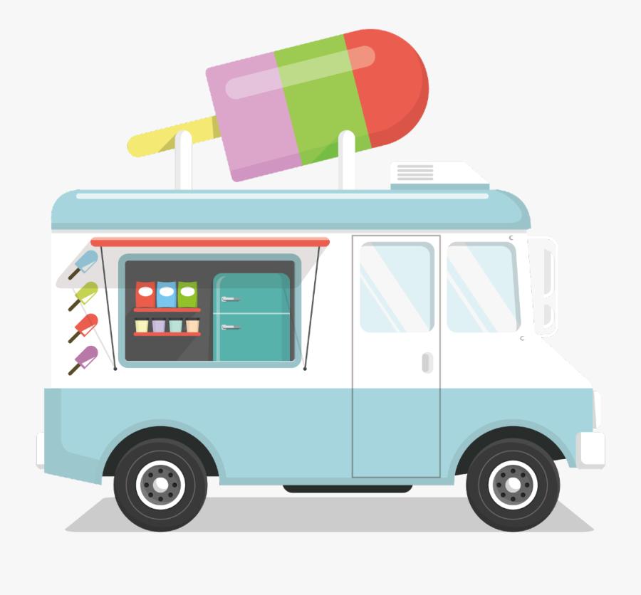Transparent Ice Cream Van Clipart - Ice Cream Truck Png, Transparent Clipart