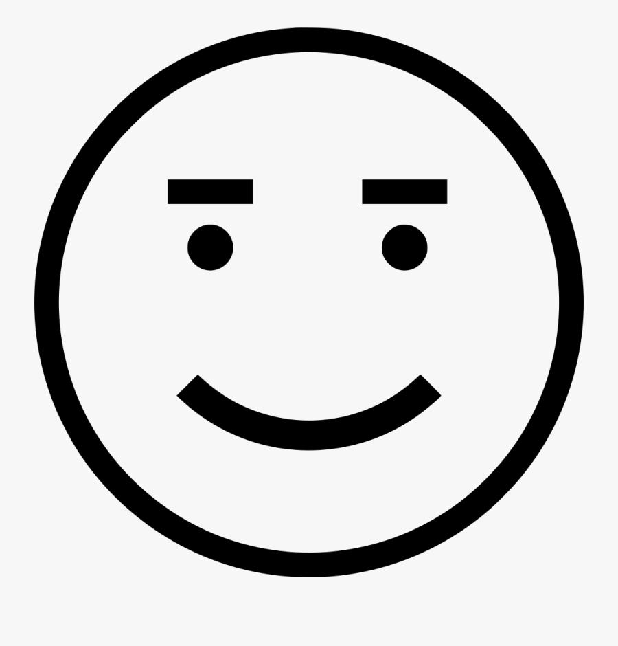 Transparent Excited Face Png - Simple Face Clipart, Transparent Clipart