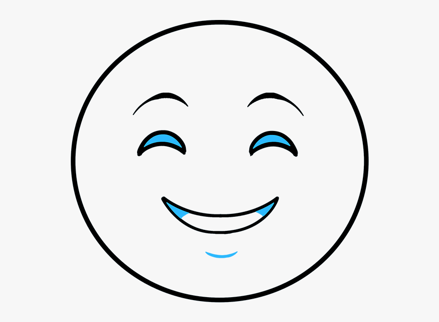 How To Draw Happy Face Emoji - Smiley, Transparent Clipart