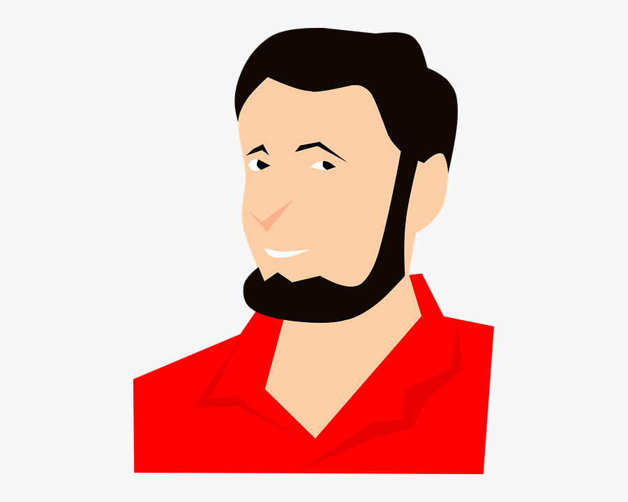 Man, Cartoon, Character, Profile, Avatar, Hair, Smile - Man Profile Picture Cartoon, Transparent Clipart