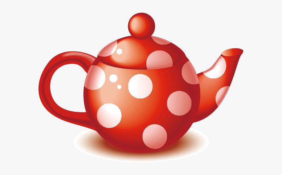Clipart Cake Teapot - Desenhos Utensílios De Cozinha Vermelho, Transparent Clipart