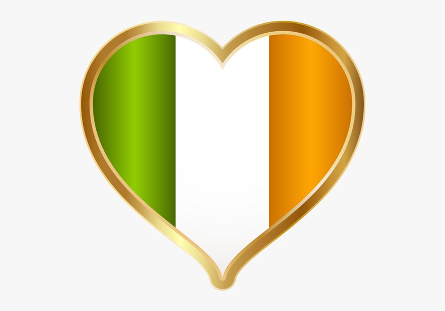 St Patricks Day Irish Heart Png Clip Art Imageu200b - Saint Patrick's Day Heart, Transparent Clipart