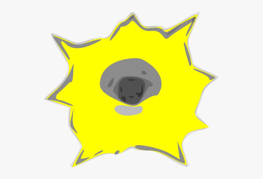 Transparent Bullet Hole Clipart - Yellow Bullet Holes Png, Transparent Clipart