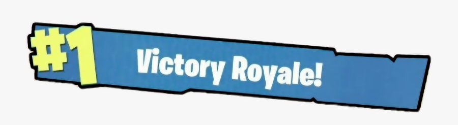 Victory Royale Signage Graphics Png Clipart - Fortnite Png Victory Royal, Transparent Clipart