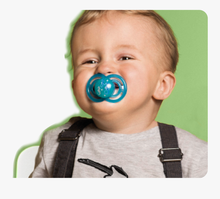 Baby With Pacifier - Child, Transparent Clipart