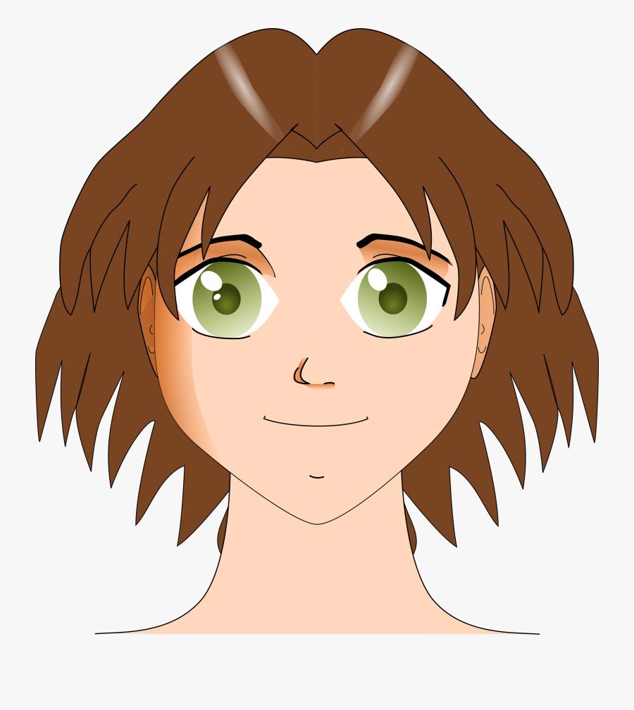 Transparent Girl Face Png - Green Eyes Girl Clipart, Transparent Clipart