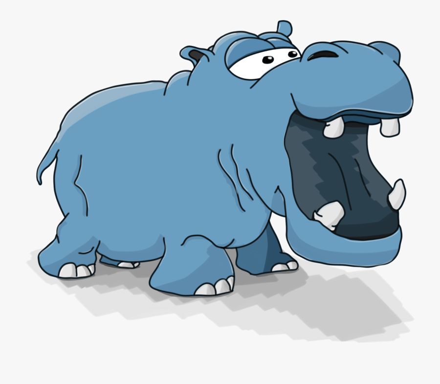 Hippo, Animals, Funny, Cartoon - Gambar Kuda Nil Kartun, Transparent Clipart