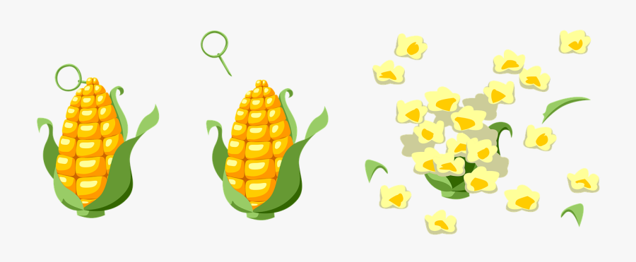 Corn Blast Popcorn Free Picture - Palomita De Maiz Imagenes Animadas, Transparent Clipart