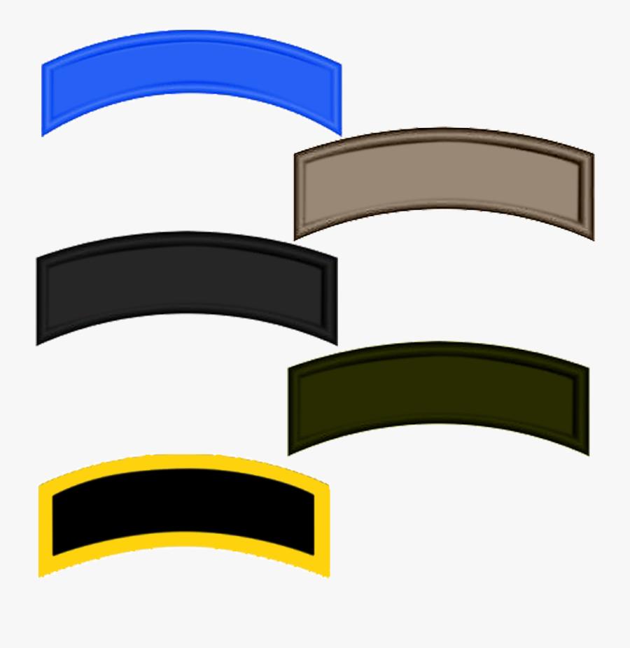 Custom Uniform Tabs - Custom Military Tabs, Transparent Clipart