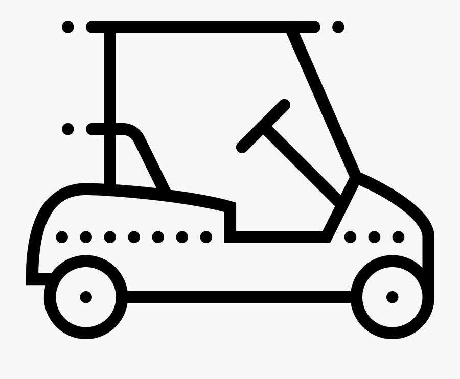 Icona Golf Cart - Golf Cart Icon Svg, Transparent Clipart