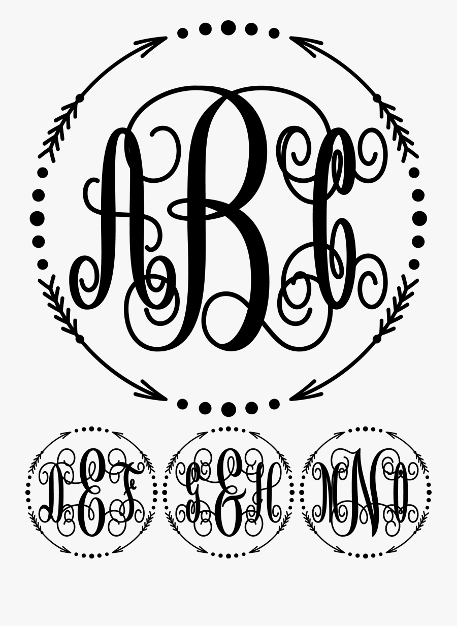 Arrow Monogram - Not All Who Wander Are Lost Svg, Transparent Clipart