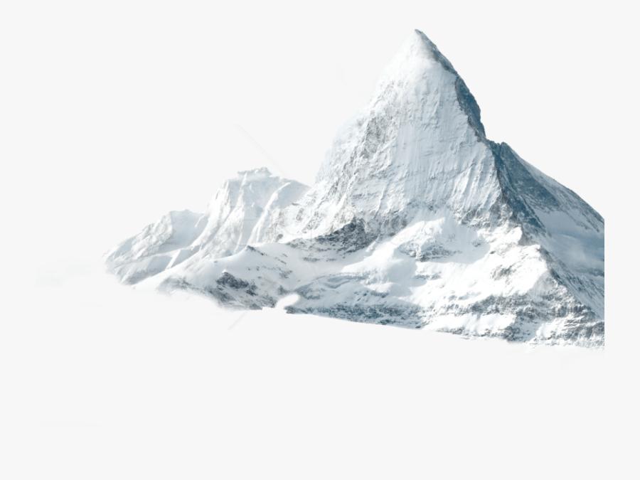 Glacier - Snowy Mountains Transparent Png, Transparent Clipart