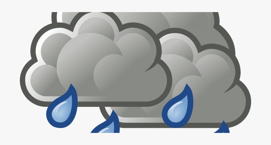 Rain Cloud Clipart Transparent Background - Weather Symbols, Transparent Clipart