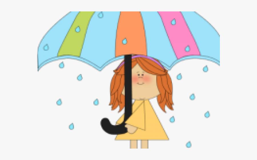 Raining Weather Cliparts - Transparent April Showers Clipart, Transparent Clipart