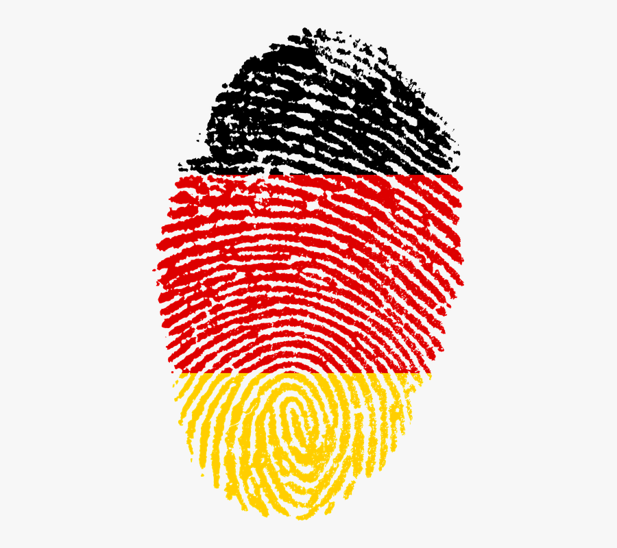 Fingerprint Germany Flag - German Flag Fingerprint, Transparent Clipart